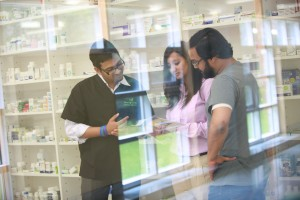 Pharmacy Technician students in laboratory