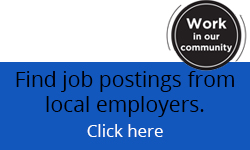 It is written: Find job postings from local employers at www.flemingemploymenthub.ca.