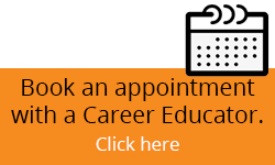 It is written: Book an appointment with a Career Educator by e-mail at careerservices@flemingcollege.ca